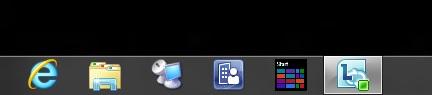 Task bar in Windows 8 CP