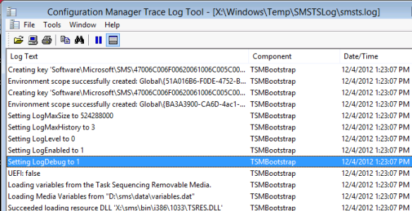 How To: Enable Debug Logging for an OS Deployment Task